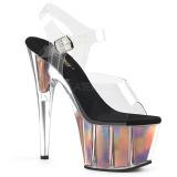 Dorato 18 cm ADORE-708HGI Ologramma plateau sandali donna con tacco