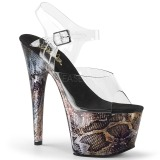 Dorato 18 cm ADORE-708SP Ologramma plateau sandali donna con tacco