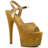Dorato 18 cm ADORE-709-2G scintillare plateau sandali donna con tacco