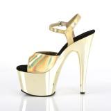 Dorato 18 cm ADORE-709HGCH Ologramma plateau sandali donna con tacco