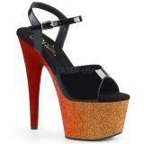 Dorato 18 cm ADORE-709OMBRE scintillare plateau sandali donna con tacco