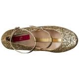 Dorato Scintillare 10 cm QUEEN-01 grandi taglie scarpe décolleté