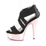 Dorato cromo plateau 15 cm DELIGHT-669 scarpe da donna pleaser