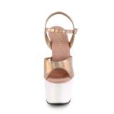 Dorato glitter plateau 18 cm ADORE-709HGG tacco alto pleaser