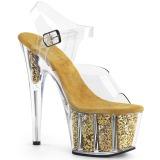 Dorato scintillare 18 cm Pleaser ADORE-708G scarpe con tacchi da pole dance