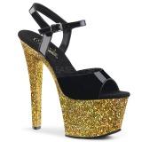 Dorato scintillare 18 cm Pleaser SKY-309LG scarpe con tacchi da pole dance