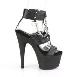 Ecopelle 18 cm ADORE-761 scarpe da party - scarpe plateau alto da donna