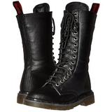 Ecopelle 3,5 cm RIVAL-300 Stivali punk nere con i lacci