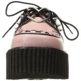 Ecopelle Rosa CREEPER-206 Scarpe creepers da donna