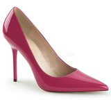 Fuchsia Shiny 10 cm CLASSIQUE-20 Pumps High Heels for Men