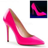 Fucsia Neon 13 cm AMUSE-20 scarpe tacchi a spillo con punta