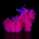 Fucsia piume di marabu 18 cm ADORE-708F scarpe da pole dance