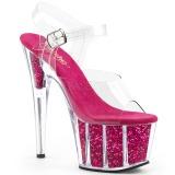Fucsia scintillare 18 cm Pleaser ADORE-708G scarpe da cubista e spogliarellista