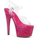 Fucsia scintillare 18 cm Pleaser ADORE-708LG scarpe con tacchi da pole dance