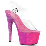 Fucsia scintillare 18 cm Pleaser ADORE-708OMBRE scarpe con tacchi da pole dance