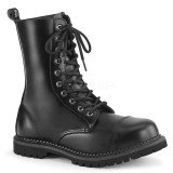 Genuine leather RIOT-10 demonia ankle boots - unisex combat boots