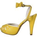 Giallo 11,5 cm Pinup retro vintage BETTIE-01 sandali con tacco alto