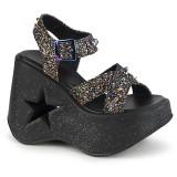 Glitter 13 cm Demonia DYNAMITE-02 scarpe lolita sandali con zeppa