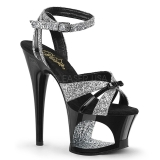 Glitter 18 cm Pleaser MOON-728 Platform High Heel Shoes