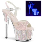 Glitter platform 18 cm ADORE-710UVG exotic pole dance high heel sandals