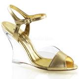 Gold 10,5 cm LOVELY-442 Women Wedge Sandals