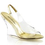 Gold 10,5 cm LOVELY-450 Women Wedge Sandals