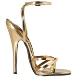 Gold 15 cm DOMINA-108 transvestite shoes