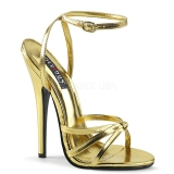 Gold 15 cm Devious DOMINA-108 high heeled sandals