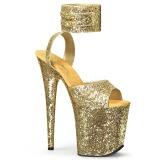 Gold Glitter 20 cm Pleaser FLAMINGO-891LG High Heels Platform