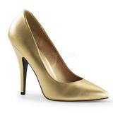 Gold Matte 13 cm SEDUCE-420 pointed toe pumps high heels