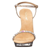 Gold Rhinestone 13 cm LIP-131 Acrylic Platform High Heeled Sandal