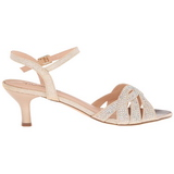 Gold Rhinestone 6,5 cm AUDREY-03 High Heeled Evening Sandals