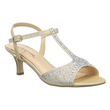 Gold Rhinestone 6,5 cm AUDREY-05 High Heeled Evening Sandals