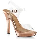 Gold Rose 13 cm LIP-108 scarpe posare - tacco alto da competizione bikini