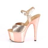 Gold chrome platform 18 cm ADORE-709 pleaser high heels shoes