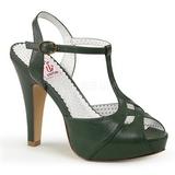 Green 11,5 cm retro vintage BETTIE-23 High Heeled Evening Sandals