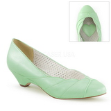 Green 4 cm LULU-05 Pinup Pumps Shoes with Low Heels
