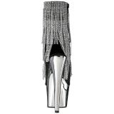 Grigio 18 cm ADORE-1024RSF stivaletti con frange donna tacco alto