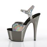 Grigio 18 cm ADORE-709HGCH Ologramma plateau sandali donna con tacco