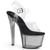 Grigio 18 cm SKY-308T Acrilico plateau sandali donna con tacco