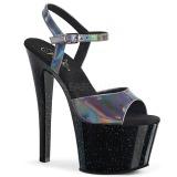 Grigio 18 cm SKY-309HG Ologramma plateau sandali donna con tacco
