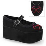 Heart canvas 8 cm CLICK-02-1 lolita shoes gothic platform shoes