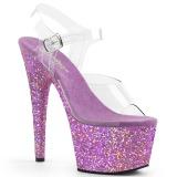 Lavanda scintillare 18 cm Pleaser ADORE-708LG scarpe con tacchi da pole dance