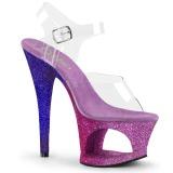 Lavanda scintillare 18 cm Pleaser MOON-708OMBRE scarpe con tacchi da pole dance