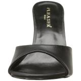 Leatherette 10 cm CLASSIQUE-01 womens mules shoes