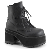 Leatherette 10 cm Demonia RANGER-102 gothic platform ankle boots