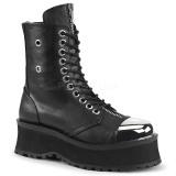 Leatherette 7 cm GRAVEDIGGER-10 Platform Mens Ankle Boots