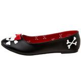 Leatherette PUNK-14 flat ballerinas womens shoes