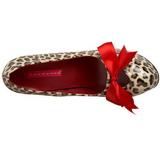 Leopardo 14,5 cm Burlesque TEEZE-12 Scarpe da donna con tacco altissime