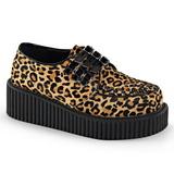 Leopardo 5 cm CREEPER-112 scarpe creepers donna con suola spessa